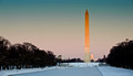 Washington monument in the snow, DC