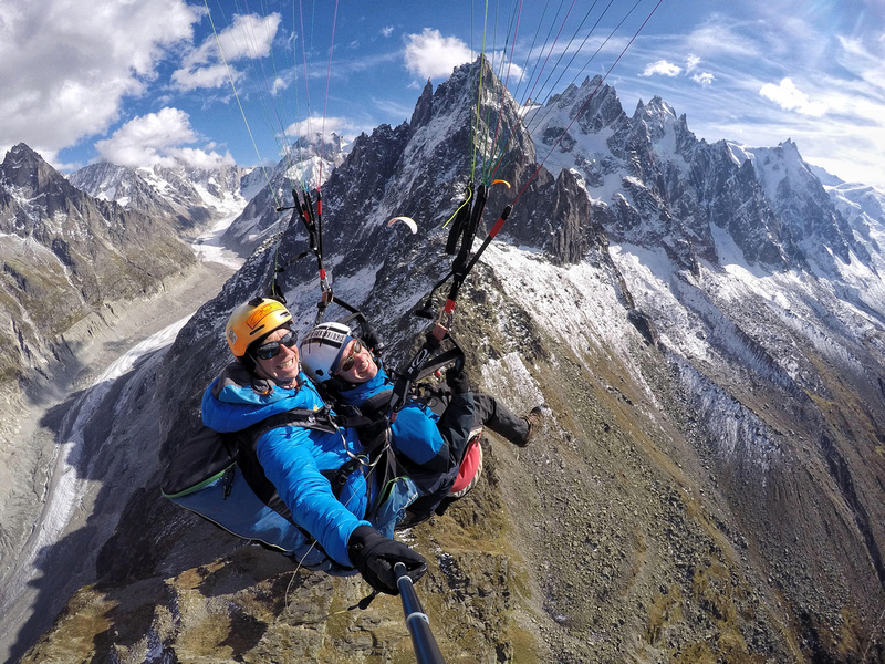 Paragliding over Chamonix